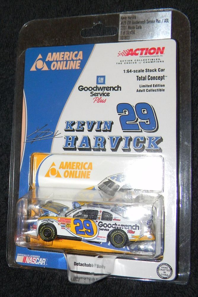 Kevin Harvick Action 1:64 #29 2001 America Online Car  #Action #Chevrolet