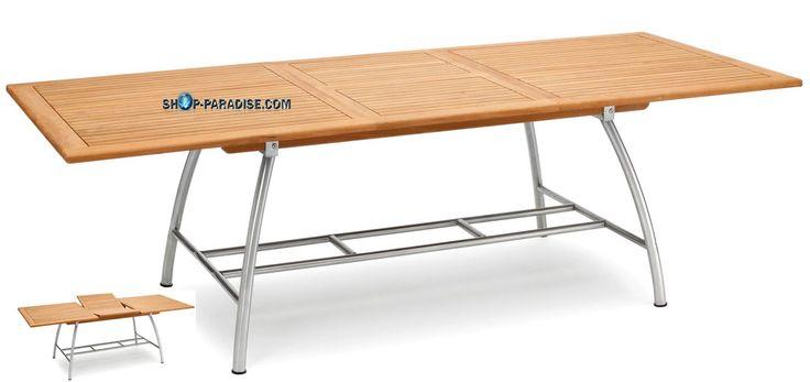 SHOP-PARADISE.COM:  Стол раздвижной Scopula из тикового дерева и нержавеющей стали 798,31 €
