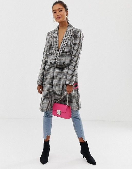 4d51c608028 Miss Selfridge tailored coat in check in 2018