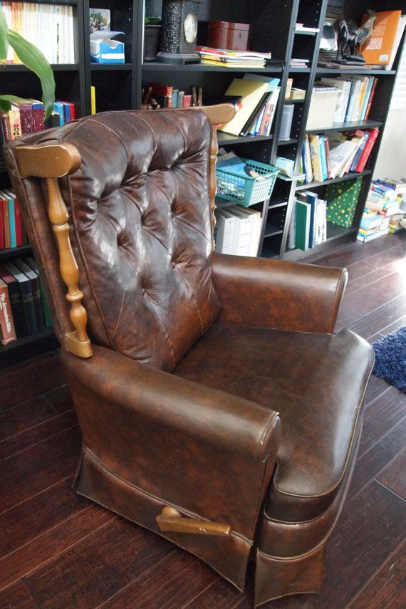 Vintage Lazyboy Lazboy Recliner Chair Brown By