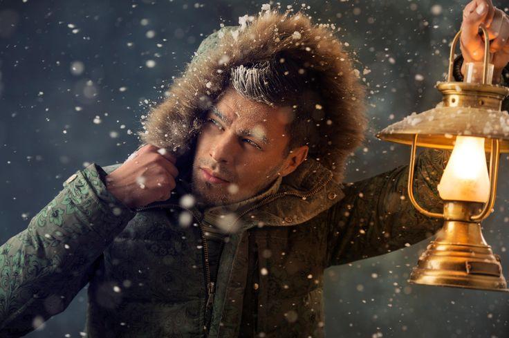 Brutal man walking under snowstorm at night lighting his way wit by Kirill Kedrinski - Photo 57250224 - 500px