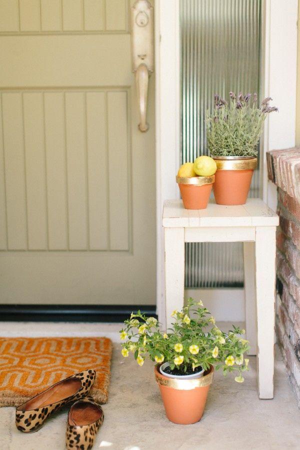 DIY Gold Leaf Pots | theglitterguide.comdiy