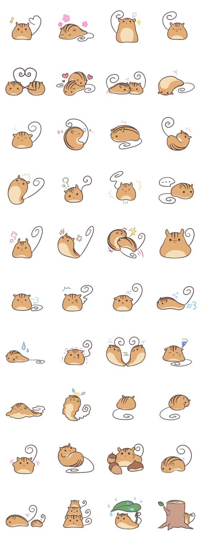 #LINE #Sticker - Developer: SouyaTouki || Sticker packet name: Kutarisu