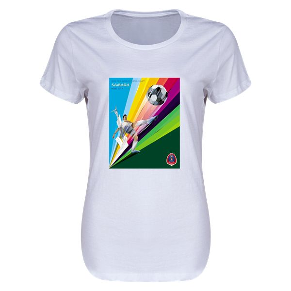 Host City Artwork Samara Womens T-Shirt (White)