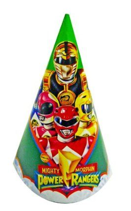 Mighty Morphin Power Rangers Birthday Party Hats - 8pk. by Paper Art. $7.99