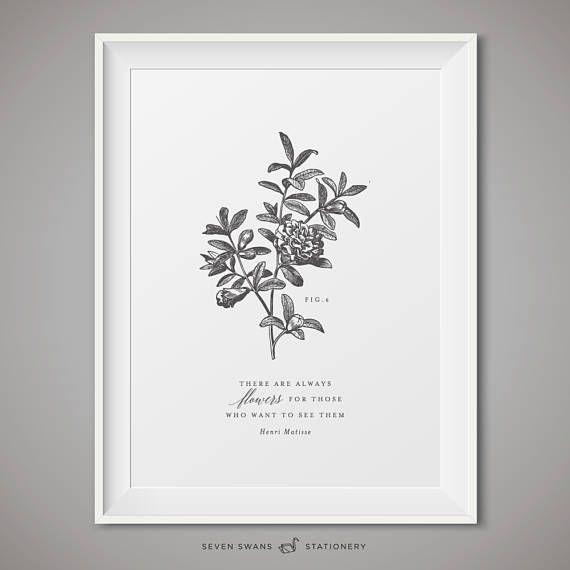 Matisse botanical print, vintage botanical printable