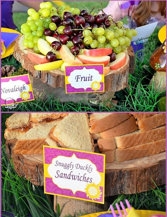 TANGLED Party  Food Labels  RAPUNZEL  Girls by KROWNKREATIONS, $3.99
