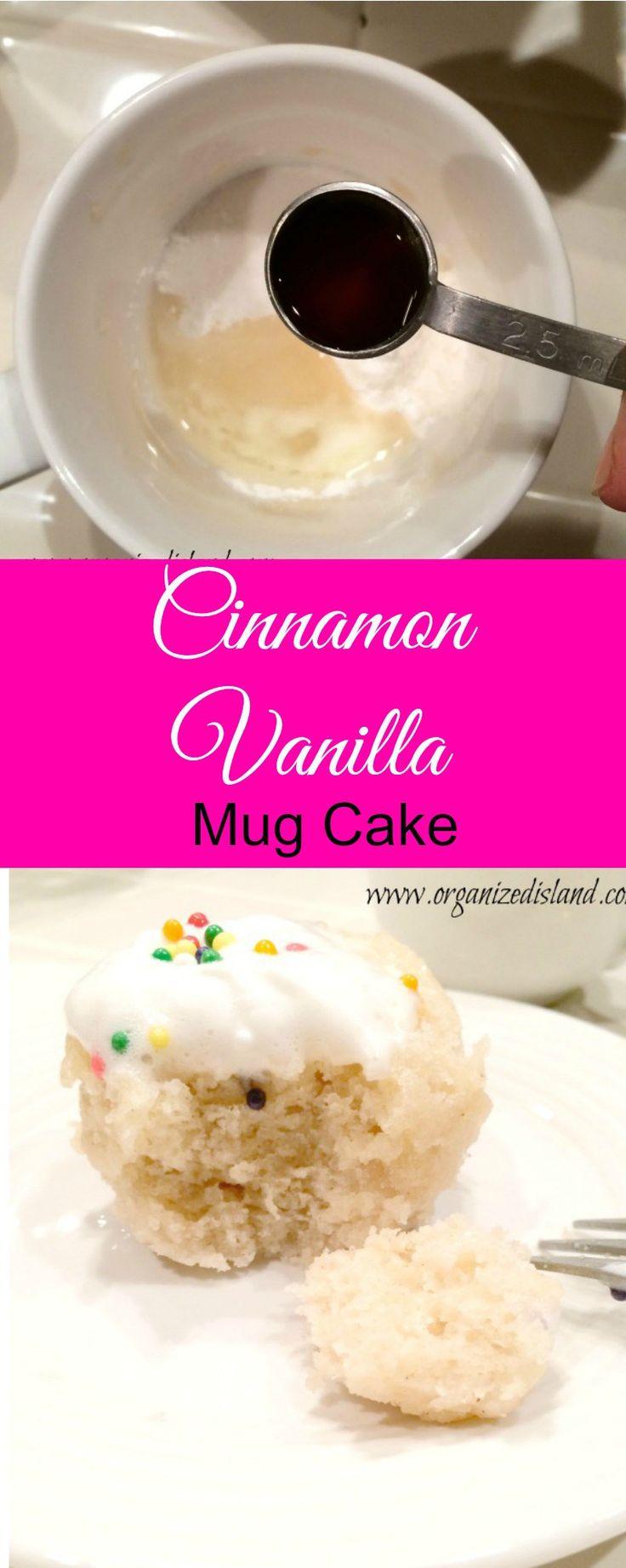 Cinnamon Vanilla Mug Cake.