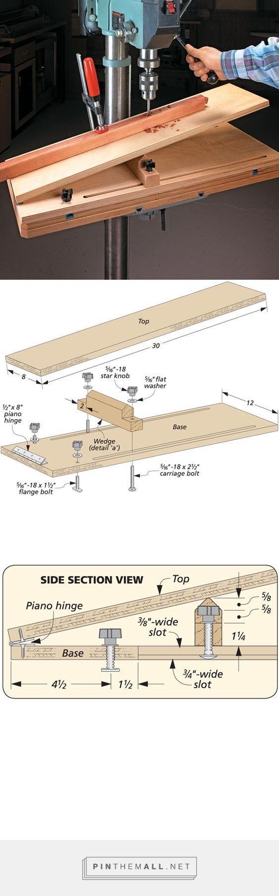Handy Drill Press Jig | Woodsmith Tips - created via http://pinthemall.net: