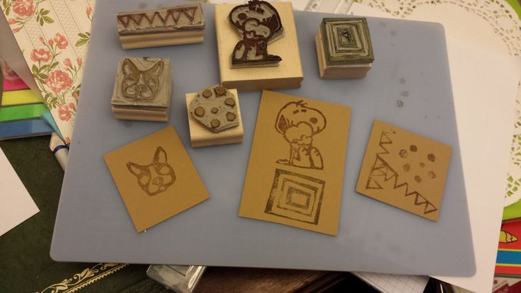 stamps carved by Angela Weiss