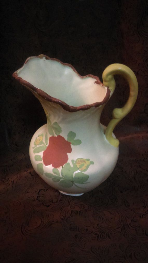 80's Vintage decorative pitcher/victorian pitcher/Hand