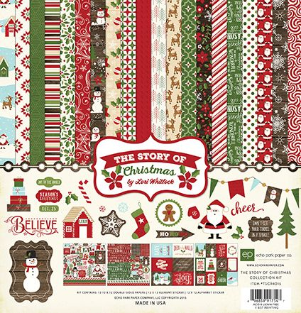 "Echo Park ""The Story of Christmas"" Paper Collection Kit is ONLY 50% off today!"