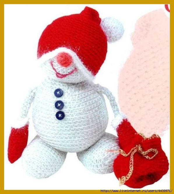 Озорные петельки: Забавный снеговик