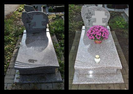 Przykładowa realizacja sprzątania grobu pojedynczego.  Custos - Opieka nad grobami