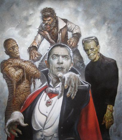 The Universal Monsters by GREG STAPLES   ARTIST AND ILLUSTRATOR