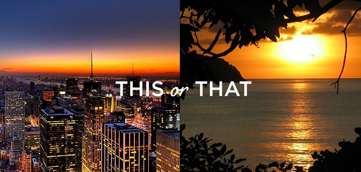This or that: CITY or BEACH escape? #bellabox #july #travel