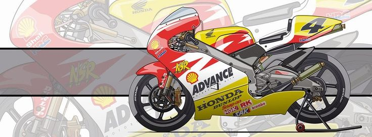 Racing Cafè: Motorcycle Art - Honda NSR 250 GP 2000 by Evan DeCiren