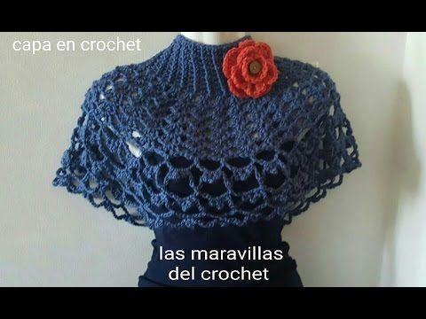 Capa fácil y elegante en crochet (ganchillo ) - YouTube