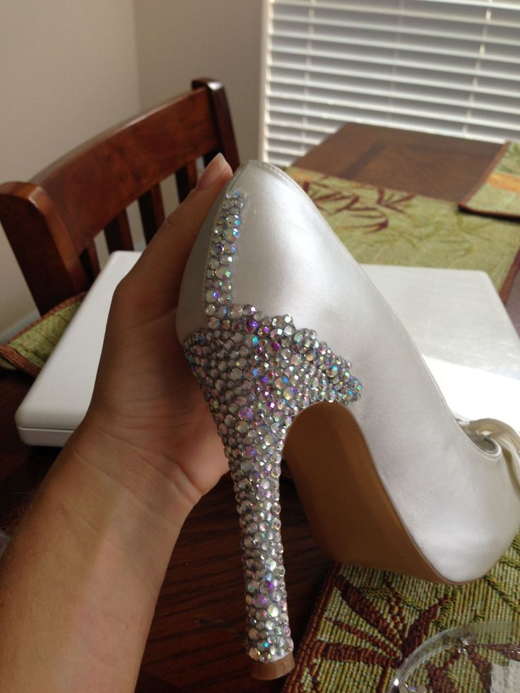 Rhinestone Wedding Heels DIY