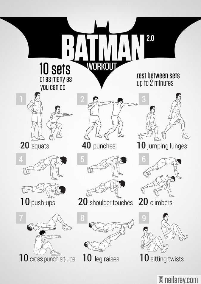 Neila Rey Batman Workout Program With 9 Sets Of Exercises