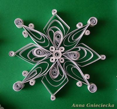 quilling by Anna Gnieciecka, paper christmas tree ornaments