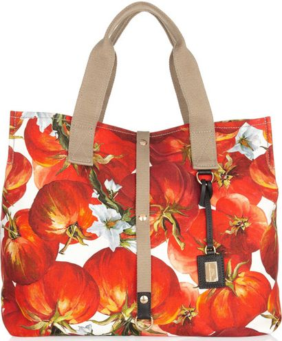 Hot tomato!    Google Image Result for http://www.pursepage.com/wp-content/uploads/2012/04/dolce-and-gabbana-tomato-print-cotton-canvas-tote.jpg