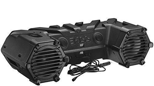 BOSS Audio ATVB90 Bluetooth, Amplified,  ATV/UTV Sound System, Weather-Proof Marine Grade, Bluetooth Remote, 12 Volt Application Friendly. For product info go to:  https://www.caraccessoriesonlinemarket.com/boss-audio-atvb90-bluetooth-amplified-atvutv-sound-system-weather-proof-marine-grade-bluetooth-remote-12-volt-application-friendly/