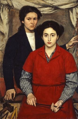 Two Girl Friends - Yiannis Moralis