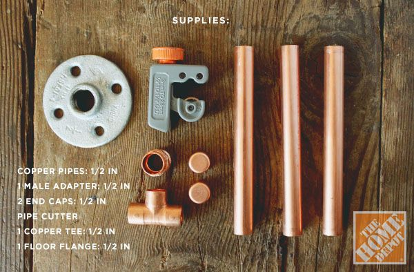 How to Make a Copper Pipe Jewelry Display - The Home Depot - Home Improvement Blog – The Apron by The Home Depot