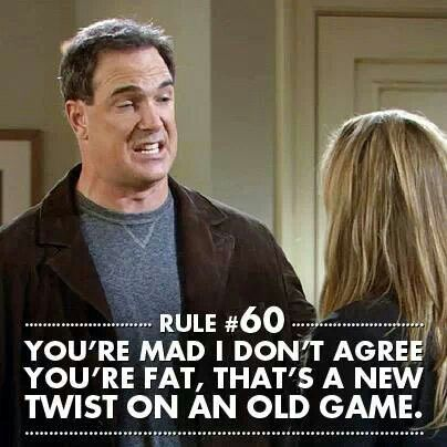 Rules of Engagement: You're mad I don't agree you're fat. That's a new twist on an old game.