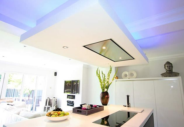 Kitchen Island Extractor a ceiling extractor above the hob on the island saves on space