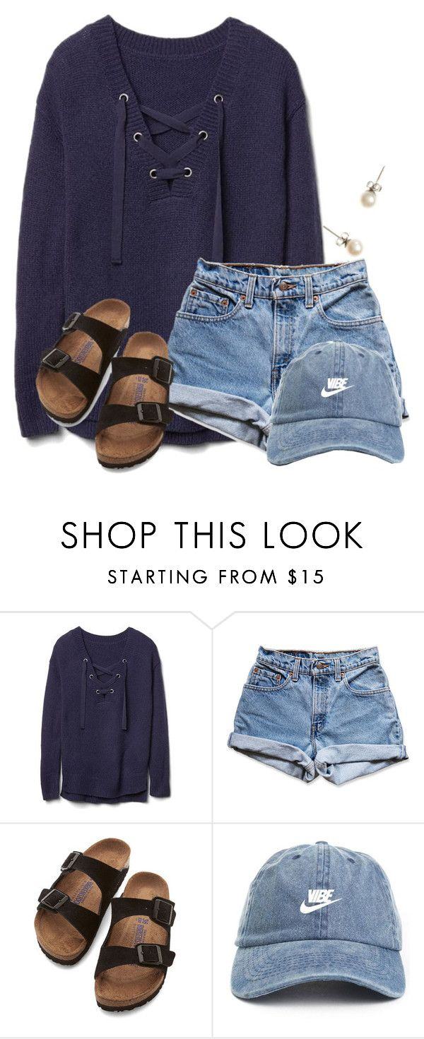 nike shoes ~w e d n e s d a y~ by flroasburn on Polyvore featuring Gap, Levis, Birkenstock and J.Crew