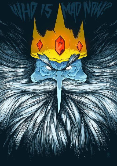 Rei gelado (Ice King) - Adventure Time FanArt by Massai More stuff on:https://www.behance.net/gallery/31743481/Rei-gelado-(Ice-King)-Adventure-Time-FanArt