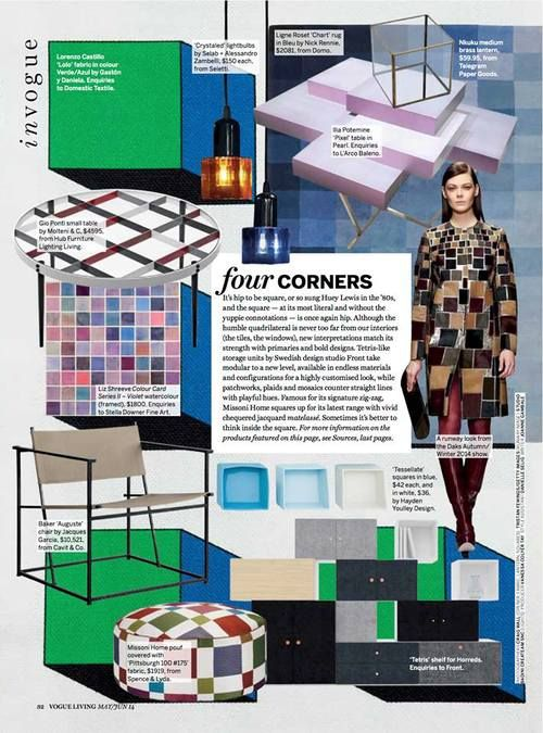 Blue Tessellate bowls featured in Vogue Living