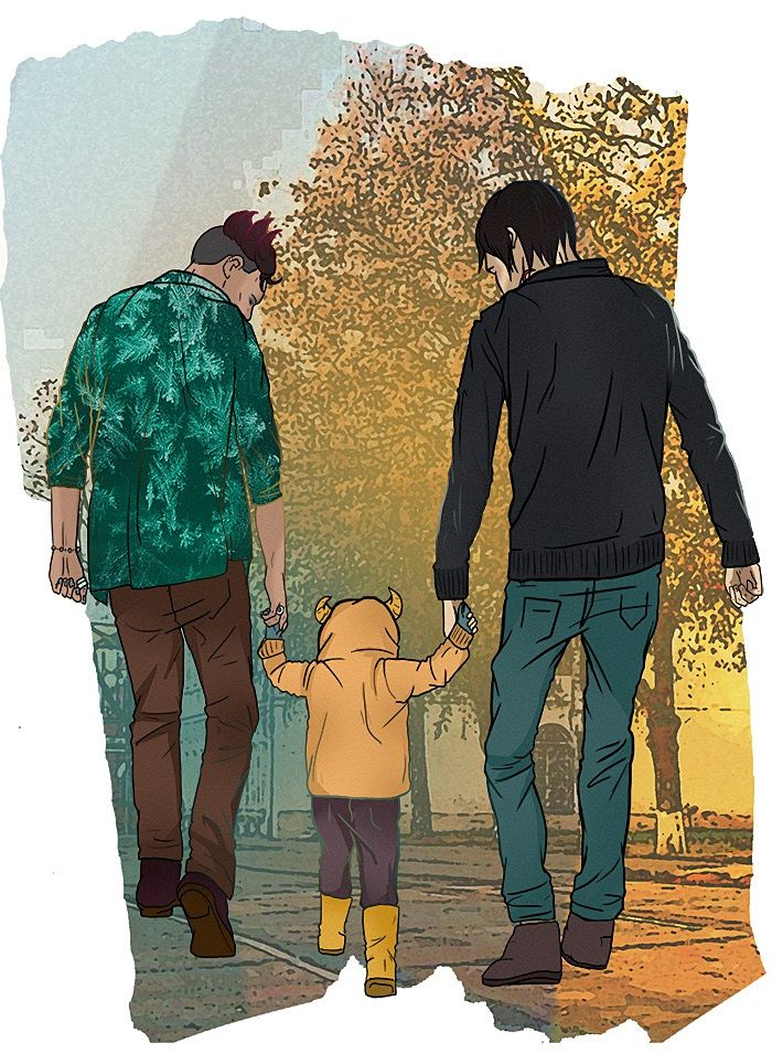Malec with Max, Lightwood-Bane family