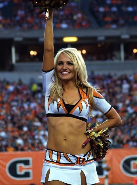 The Cincinnati bengals cheerleaders megan