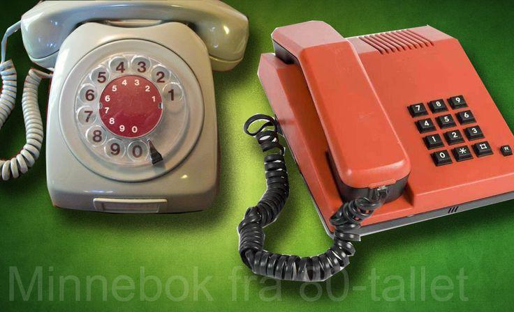 80-tallets to mest utbredte telefoner. Hvilken hadde du?