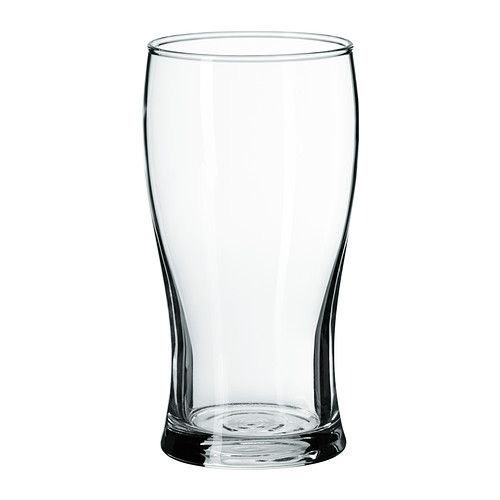 IKEA LODRÄT Beer glass Clear glass 50 cl The glass is perfect for lager and brings out its aroma.