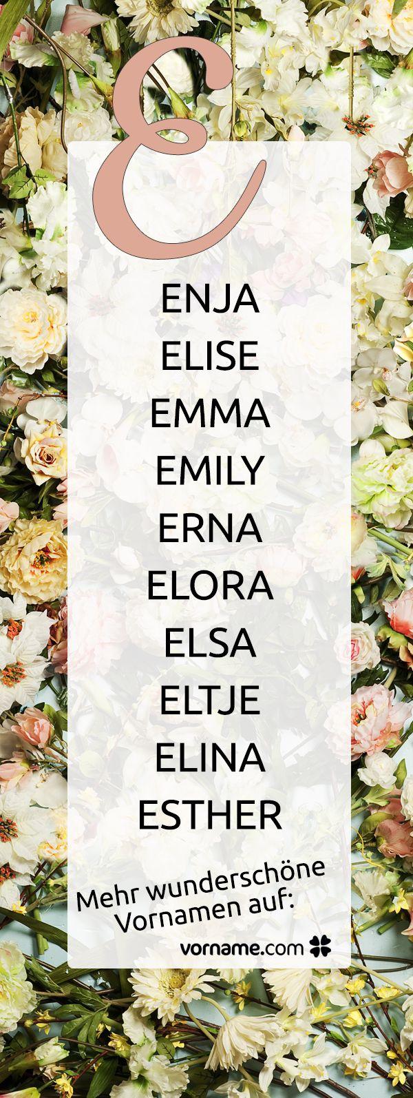 Du bist auf der Suche nach einem schönen Mädchennamen, der mit E beginnt? Bei uns findest Du alle Vornamen zu diesem Thema!