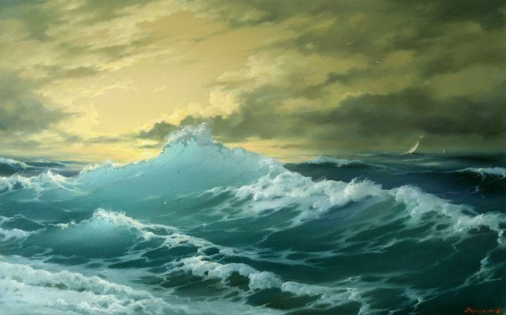 Watercolor Seascape Paintings   painting,Boat painting 3,Seascape oil painting,Boat oil painting ...
