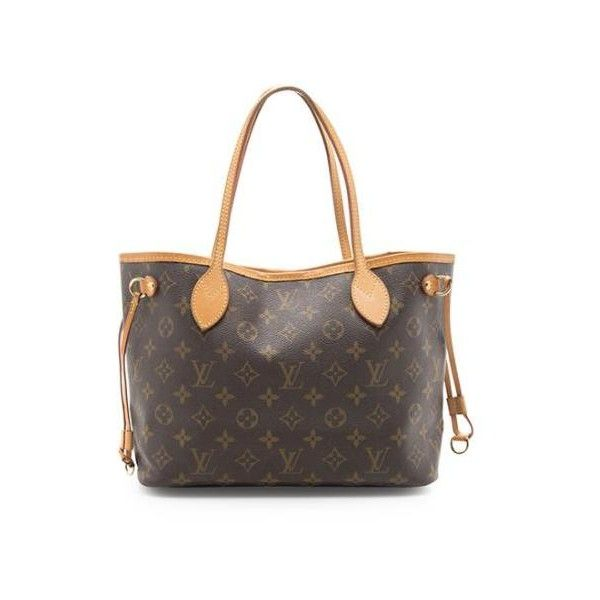 Pre-Owned Louis Vuitton Monogram Canvas Neverfull PM Tote ($1,125) ❤ liked on Polyvore featuring bags, handbags, tote bags, brown, brown tote, brown purse, louis vuitton purse, handbag tote and canvas tote