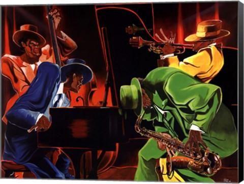 Mood 4 Jazz Music Canvas Wall Art Print by Steven Johnson
