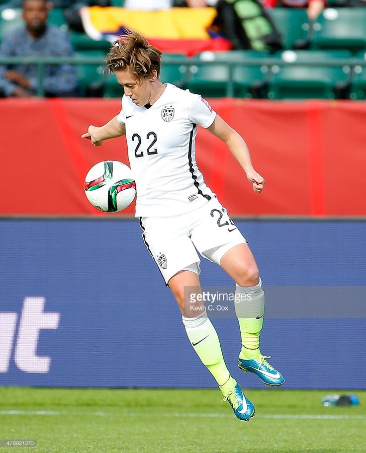 Meghan Klingenberg #22 of the United States of America against Colombia during the FIFA Women's World Cup Canada 2015 Round of 16 match between the United States of America and Colombia at Commonwealth Stadium on June 22, 2015 in Edmonton, Canada.
