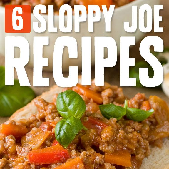 6 Creative Sloppy Joes- all the sloppy joe goodness without the carbs.