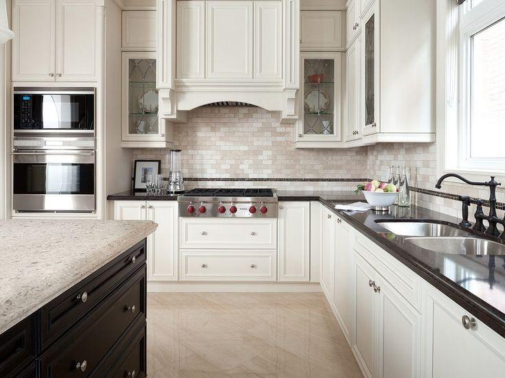 White Cabinets Black Kitchen Black Island Cabinets Kitchen ...