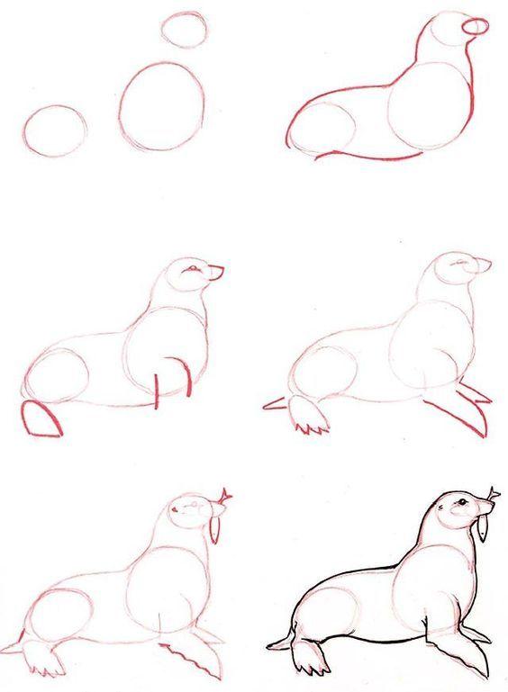 Картинки рисовать карандашом для начинающих животные