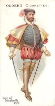 Ogdens British Costumes 100BC to 1904 - Time of Elizabeth 1572