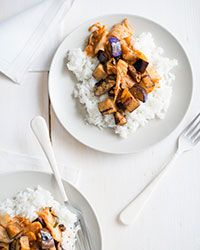 Seared Eggplant and Kimchi Stir-Fry Recipe on Food & Wine