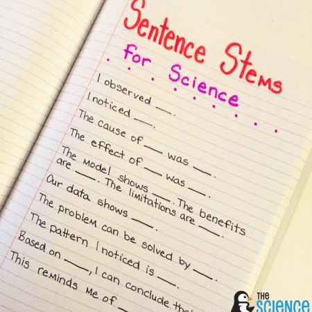 Science Sentence Stems