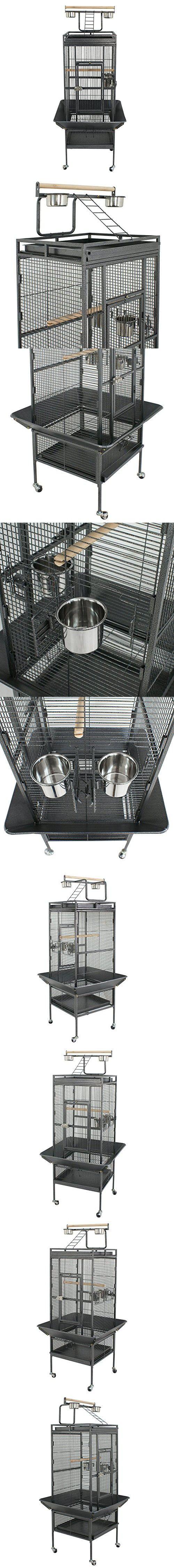 "ZENY 61"" Birdcage Pet Large Bird Cage Play Top Parrot Cockatiel Cockatoo Parakeet Finch Pet Supply (61"")"